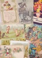 Lot 2410 De 10 CPA CPSM CPM Cochon Pig Déstockage Pour Revendeurs Ou Collectionneurs - Postcards