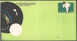 Australia/Australie: Intero, Stationery, Entier, World Bowls, Mondiali Di Bocce, Bols Monde - Bowls