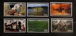 Turquie 2012 N° 3629 / 34 ** Agriculture, Mains, Agneau, Yourte, Pêche, Poisson, Chèvres, Chien, Elevage, Chevaux, Haras - 1921-... Republiek