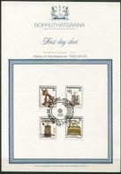 Bophuthatswana Mi# 92-5 First Day Sheet - History Of The Telephone - Bophuthatswana