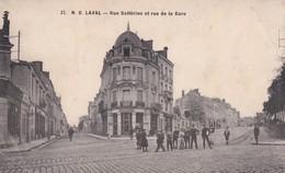 53, Laval, Rue Solférino Et Rue De La Gare, Tampon Hôpital Temporaire - Laval