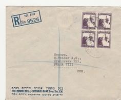 Palestine, Recco, Cover Send To Czechoslovakia, 1935 - Palästina