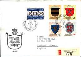 14500) LIECHTENSTEIN  FDC RACCOMANDATA-31-8-1965 CON SERIE STEMMI+EUROPA - Lotti/Collezioni