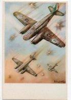 AEROPLANI CAPRONI - 3/3 -  MILANO - NON VIAGGIATA - 1939-1945: 2. Weltkrieg