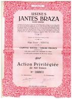 Titre Ancien - Usines Jantes Braza - Société Anonyme  - Titre De 1951 - - Industrie
