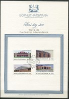 Bophuthatswana Mi# 96-9 First Day Sheet - Buildings - Bophuthatswana