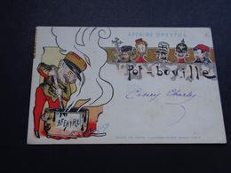 Carte ( 1146 ) Fantantaisie  Fantasie  -  Thème Thema : Judaïca  Juif  Joods  Jood - Affaire Dreyfus - Illustrateur Enzo - Jewish