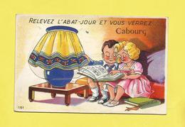 Carte à Système De  CABOURG Calvados Enfants Regardant Un Album De Cartes Sous L'abat Jour 10 Vues Aériennes Du 17 08 56 - Cabourg