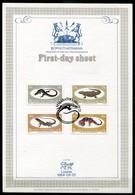 Bophuthatswana Mi# 129-32 First Day Sheet - Fauna Reptiles - Bophuthatswana
