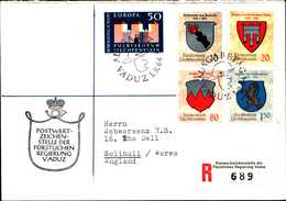 14506) LIECHTENSTEIN  FDC RACCOMANDATA-1-9-1964 CON SERIE STEMMI+EUROPA - Lotti/Collezioni