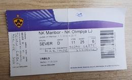 SOCCER Football Ticket SLOVENIAN League NK Maribor : NK Olimpija  5.3.2016 Slovenia - Tickets D'entrée