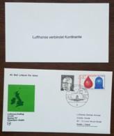 Allemagne - Premier Vol / Lufthansa Erstflug LH 078 BOEING 737 - Düsseldorf Dublin - 1974 - Brieven En Documenten