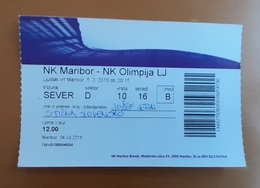 SOCCER Football Ticket SLOVENIAN League NK Maribor : NK Olimpija  5.3.2016 Slovenia - Match Tickets