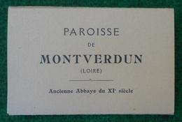 Pochette De Huit Cartes Postales - Paroisse De Montverdun - Château De Couzan - L'Église - Other Municipalities