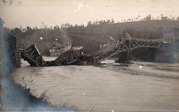 BELLUNO INVASA - GLI AUSTRIACI IN FUGA DISTRUGGONO IL PONTE SUL PIAVE - Fotografia Di PIETRO DE CIAN - NON VIAGGIATA - Weltkrieg 1914-18