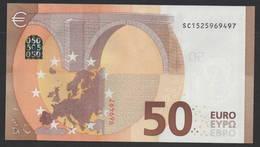 """50 EURO ITALIA  SC  S031  Ch. """"52""""  - DRAGHI   UNC - EURO"""
