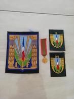 17367  MILITARIA LOT INSIGNES TISSUS ET  REDUCTION DECORATION - Medals