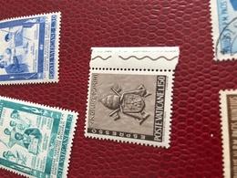 VATICANO ARTE BORDO FOGLIO MARRONCINO - Stamps
