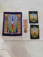 17370  MILITARIA LOT INSIGNES TISSUS ET  REDUCTION DECORATION - Medals