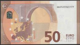 """50 EURO ITALIA  SB  S031  Ch. """"52""""  - DRAGHI   UNC - EURO"""