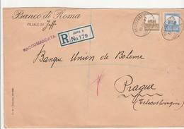 Palestine, Recco, Cover Send To Czechoslovakia, 1937 - Palestine