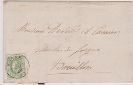 Lettre  N° 30 DC Wavre 1875 C. De Raedt-Lavaux Brasseur Vers Bouillon - 1869-1883 Leopold II