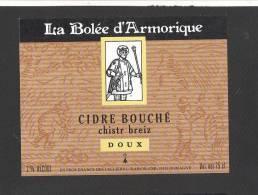 Etiquette De Cidre Doux -  La Bollée D'Armorique  -  Raison  à  Domagné  (35) - Etichette