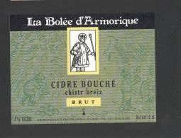 Etiquette De Cidre Brut -  La Bollée D'Armorique  -  Raison à Domagné  (35) - Etichette