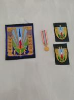 17377  MILITARIA LOT INSIGNES TISSUS ET  REDUCTION DECORATION CIVILE OU MILITAIRE - Medals