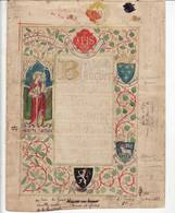 """Gand """" Collége St.Barbe """" Banquet Et Menu - Conception Originale - 1883 - Tres Rare Unique - 3 Scans - Documents Historiques"""