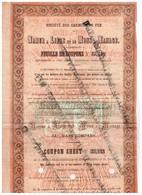Titre Ancien - Société Des Chemins De Fer De Namur Et De Mons à Manage -Titre De 1858 -  Rare - - Chemin De Fer & Tramway