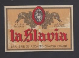 Etiquette De Bière  -  La Slavia  -  Brasserie De La Comète  à  Chalon Sur Marne  (51) - Beer