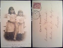 PETIT MAMAN - LES FILLES - BAMBINE - VIAGGIATA 1904 - Gruppi Di Bambini & Famiglie