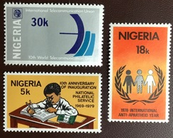 Nigeria 1978-79 3 Commemorative Sets MNH - Nigeria (1961-...)