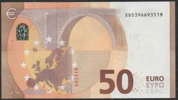 """50 EURO ITALIA  SD  S029  Ch. """"39""""  - DRAGHI   UNC - EURO"""