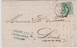 Lettre  N° 30 DC Dinant Banque H. Libert 1873 Vers Lierre - 1869-1883 Leopold II