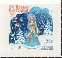 RUSSIA, 2018, MNH, CHRISTMAS, COSTUMES, BIRDS,1v - Kerstmis