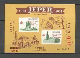 E 101 VISIT OF THE QUEEN OF ENGLAND IEPER 1966  BLOK  POSTFRIS** - Erinnophilie