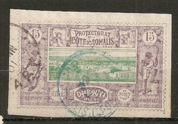 COTE S  - Yt.  N°  11  (o)   15c  Dijibouti Cachet Bleu  Cote  11  Euro BE   2 Scans - Gebraucht
