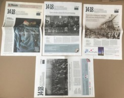 LE MONDE 14-18 LE JOURNAL DU CENTENAIRE 1914-1918 CAHIERS DU MONDE DE 2013 A 2014 - Magazines & Papers