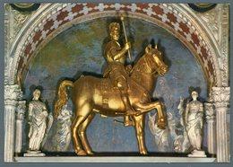 °°° Cartolina - Bergamo Cappella Colleoni Statua Equestre Di S. Colleoni Viaggiata °°° - Bergamo