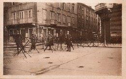 FIUME - LE CINQUE GIORNATE 1920 - PIAZZA DANTE SISTEMATA A DIFESA.......- NON VIAGGIATA - Guerre 1914-18