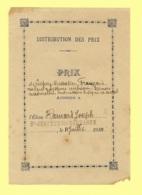 FEUILLET DISTRIBUTION DES PRIX, 1911 - Diploma & School Reports