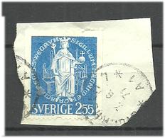 Sweden 1970 Seal Of King Magnus Ladulåsn  Mi 672, Cancelled On Paper - Zweden