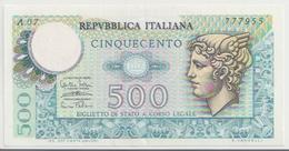 ITALY  P. 94 500 L 1974 VF - [ 2] 1946-… : Republiek