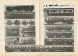 Catalogue PC MODELS Products 1978 00 Scale - Boeken En Tijdschriften