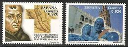 2014-ED. 4850 Y 4851 - SERIE COMPLETA-PERSONAJES. FRAY JUNÍPERO SERRA Y PEDRO CIEZA DE LEÓN-NUEVO - 1931-Heute: 2. Rep. - ... Juan Carlos I