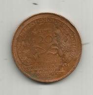 Médaille , Italie , Espozione Internazionale MILANO ,1900 , Vavevole 20 Centesimi ,  2 Scans - Profesionales/De Sociedad