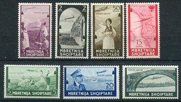 ALBANIA 1940 Airmail  Set LHM / *.  Michel 313-19 - Albania