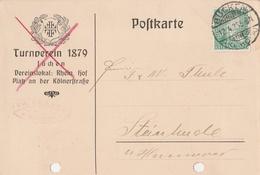 Deutsches Reich Firmenkarte Turnverein 1879 Jüchen Lk Rhein Kreis Neuss Bücken 1926 Kr Hoya - Covers & Documents